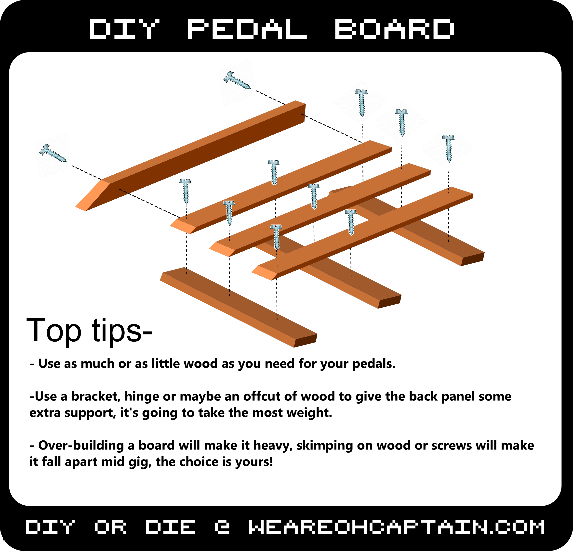 how to build a pedal board without breaking the bank oh captain official site. Black Bedroom Furniture Sets. Home Design Ideas
